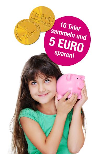 10 Taler sammeln und 5 Euro sparen im Gesundheitsnetz Bremen